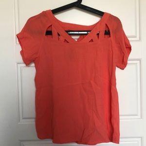 Buttons (Francesca's) XS pink blouse